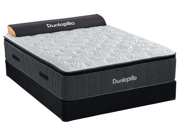 Sherwood Bedding - Dunlopillo - Barcelona Plush Euro Top - Hybrid Mattress