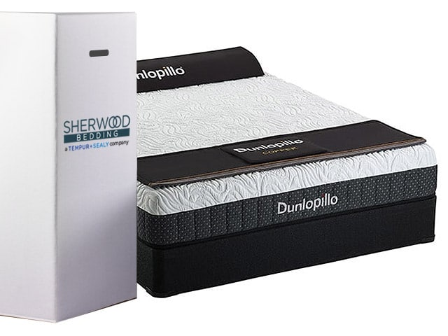 Dunlopillo Copper Talalay Mattress In A Box By Sherwood Bedding