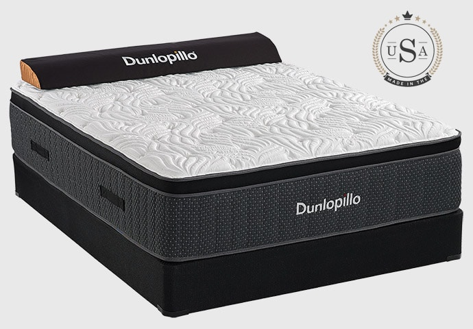 Sherwood Bedding Dunlopillo, American Made Hybrid Mattresses